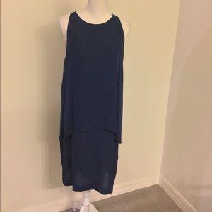 Theory sleeveless tiered dress